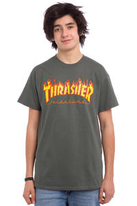 Thrasher Flame T-Shirt (charcoal)