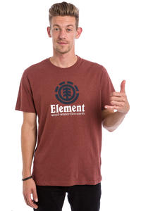Element Vertical T-Shirt (oxblood red heather)