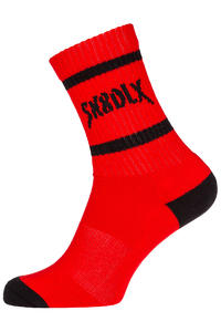 SK8DLX Hardcore Socks US 6-13 (fire red)