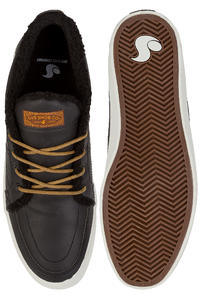DVS Rivera Leather Shoes (black crazy horse sherpa)