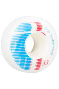 Girl National 53mm Rueda (white) Pack de 4