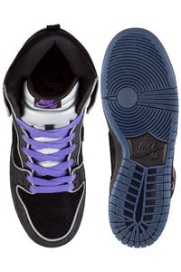 Nike SB Dunk High Elite Shoebox Shoes (black black purple haze)