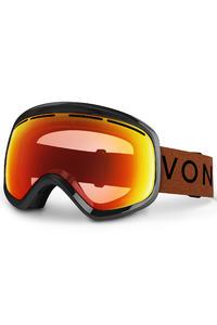 VonZipper Skylab Project Flatlight Goggles (black gloss clear chrome orange) inkl. Bonusglas
