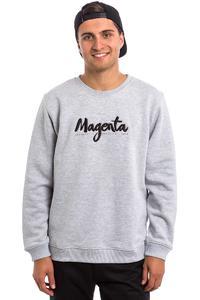 Magenta Script Sweatshirt (heather grey)