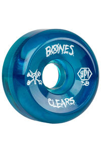 Bones SPF Clears 58mm Wheels (clear blue) 4 Pack