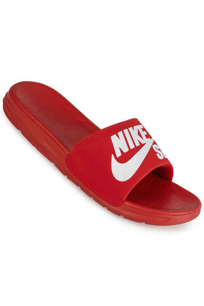 new concept 91484 7d20d Nike SB Benassi Solarsoft Slide Chanclas (university red white) comprar en  skatedeluxe