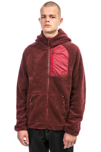 first look classic styles factory outlets Nike SB Everett Sherpa Zip-Hoodie (dark team red)