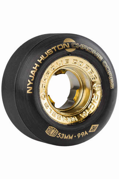 Black 53mm Pack of 4 Ricta Huston Chrome Core 99a Skateboard Wheels