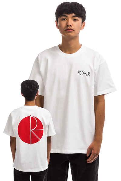 702f631a Polar Skateboards Fill Logo T-Shirt (white red) buy at skatedeluxe