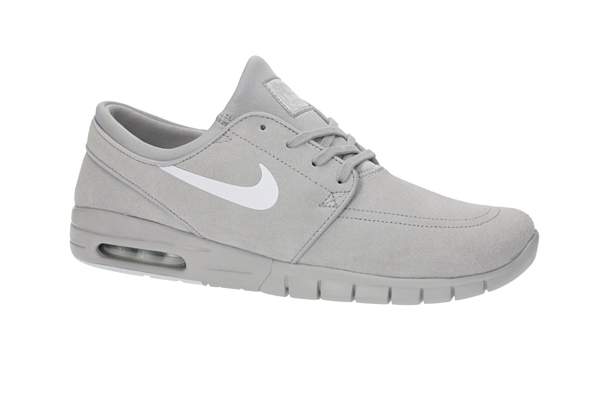 new style 16ed8 7a827 Nike SB Stefan Janoski Max Suede Shoes (matte silver pure platinum)