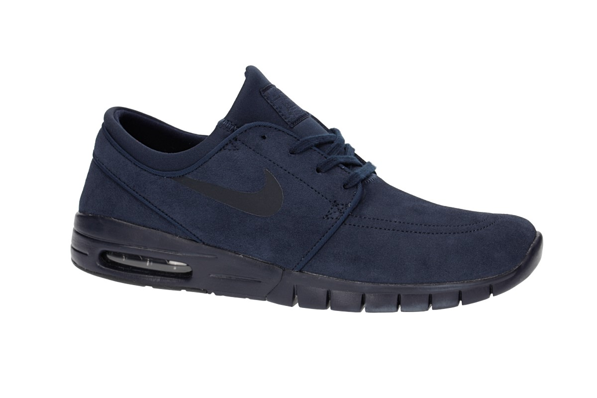 Nike SB Stefan Janoski Max Suede Shoes (dark obsidian) buy at ... 0c50bc964