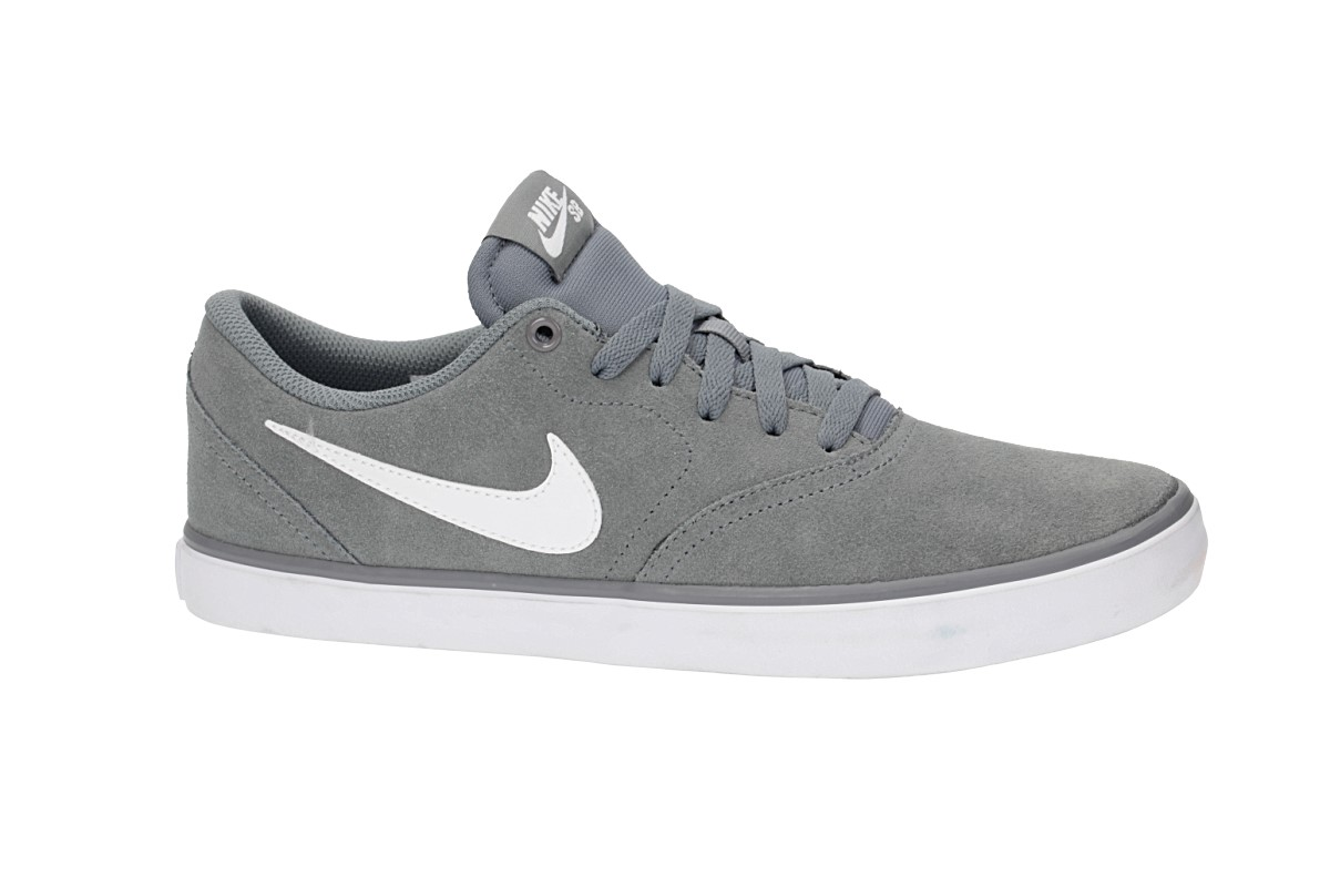 Nike SB Check Solarsoft Shoes (cool grey white)