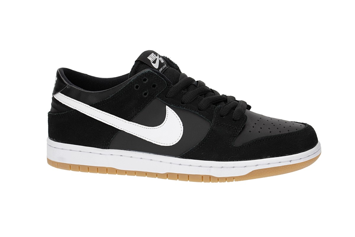Nike SB Dunk Low Pro Chaussure (black white gum)