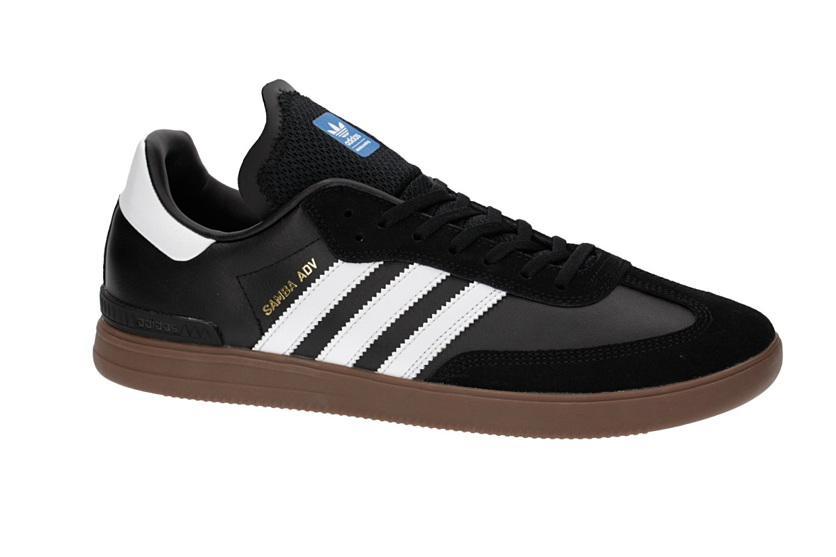 adidas Skateboarding Samba ADV Shoes (core black white gum)