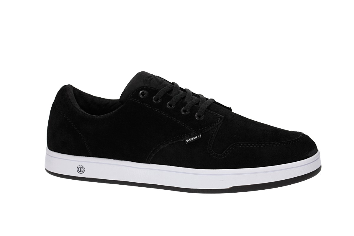 Element Topaz C4 Suede Shoes (black white)