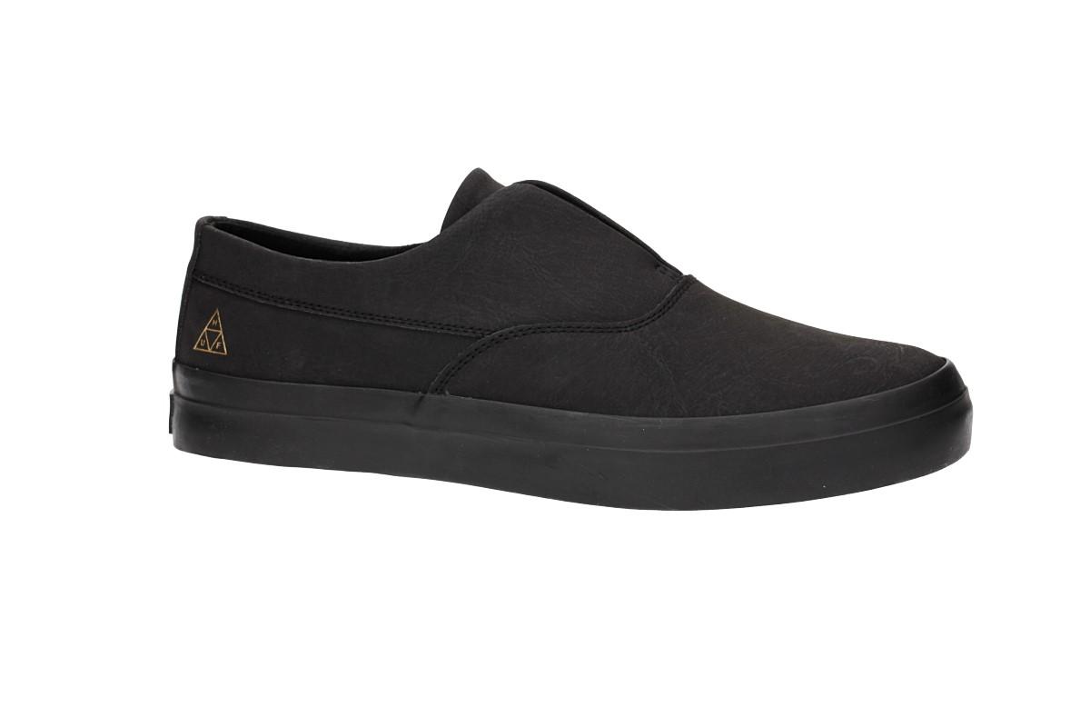 7b52997924 HUF Dylan Slip On Shoes (black black) buy at skatedeluxe