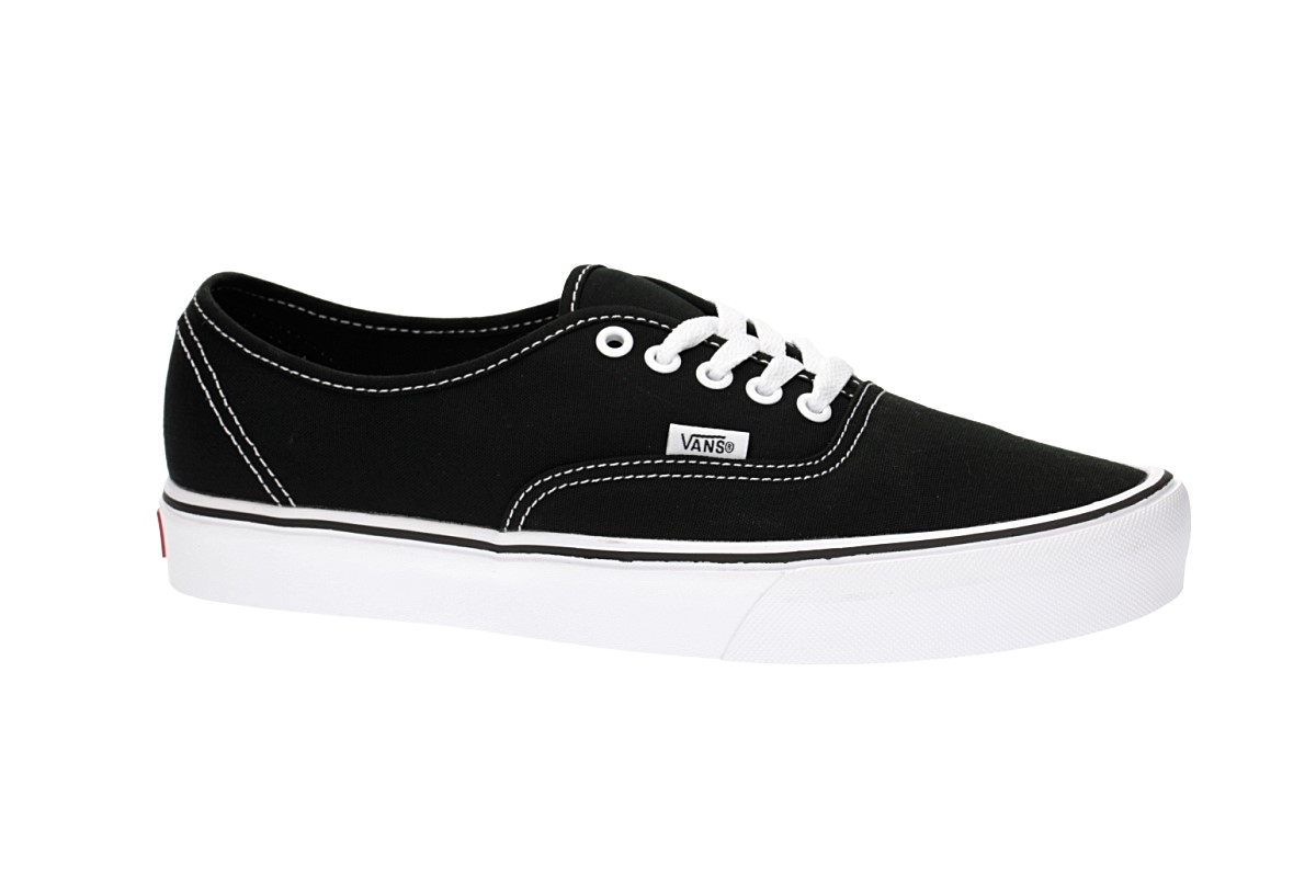 486bdef524 Vans Authentic Lite Canvas Shoes (black white) buy at skatedeluxe