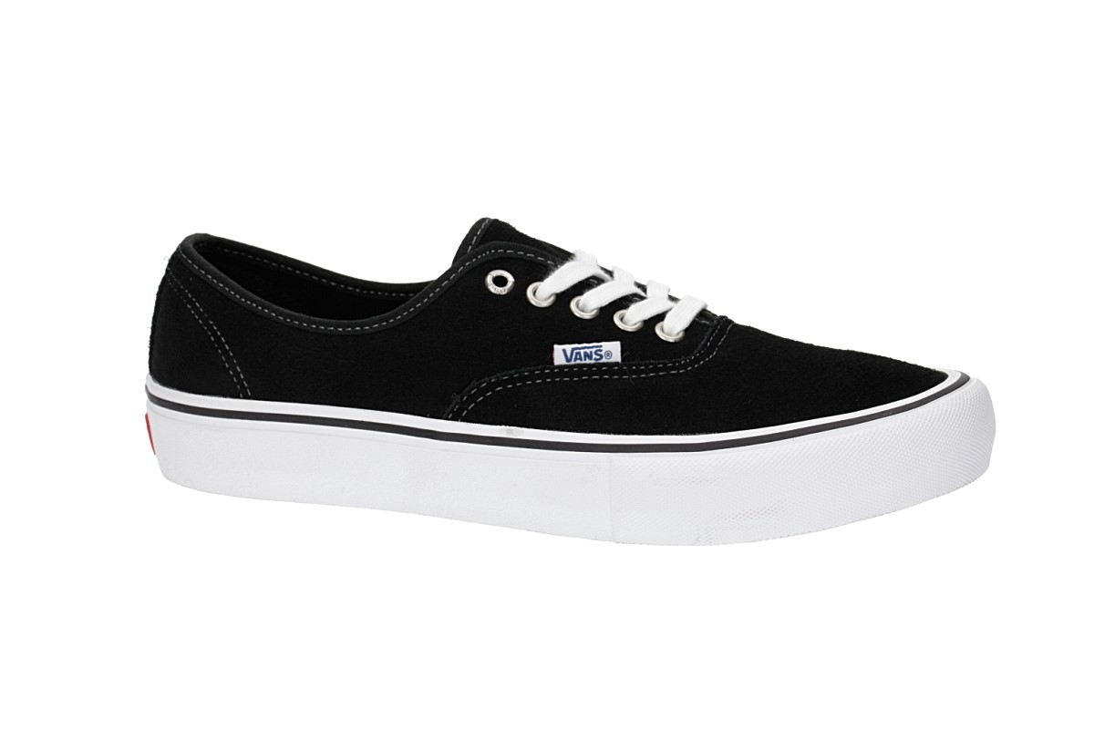 27a900f2a242 Vans Authentic Pro Suede Shoes (black) buy at skatedeluxe