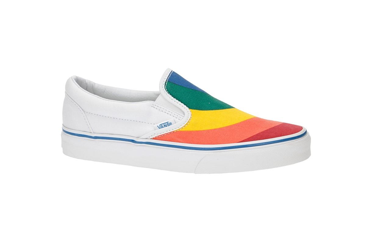 Vans Classic Slip-On Chaussure women (rainbow true white)
