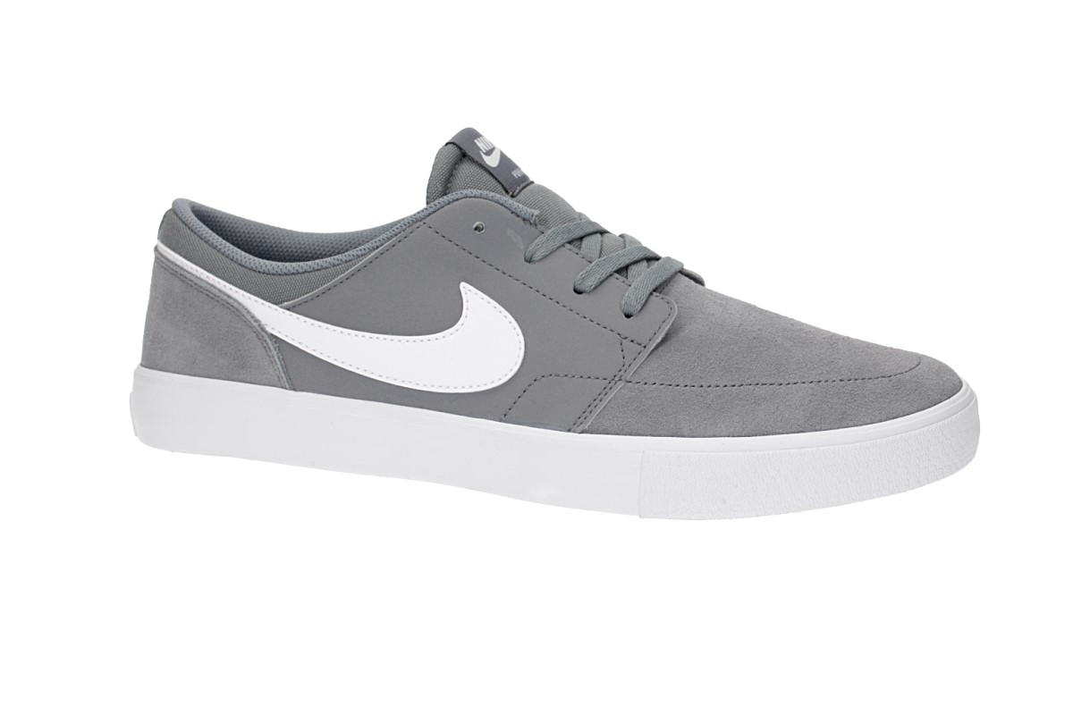 Nike SB Solarsoft Portmore II Shoes (cool grey white)