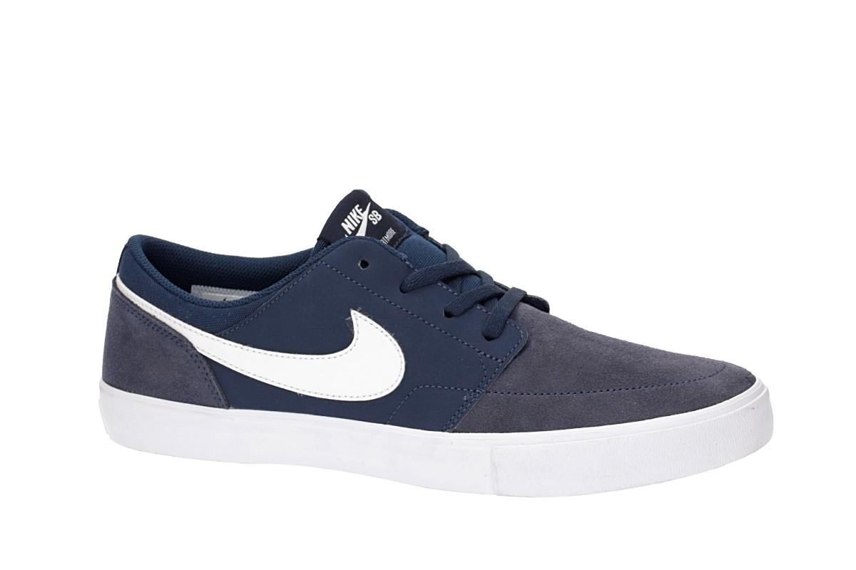 Nike SB Solarsoft Portmore II Chaussure (midnight navy white)