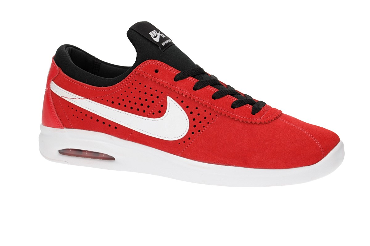 Nike SB Air Max Bruin Vapor Shoes (track red white)