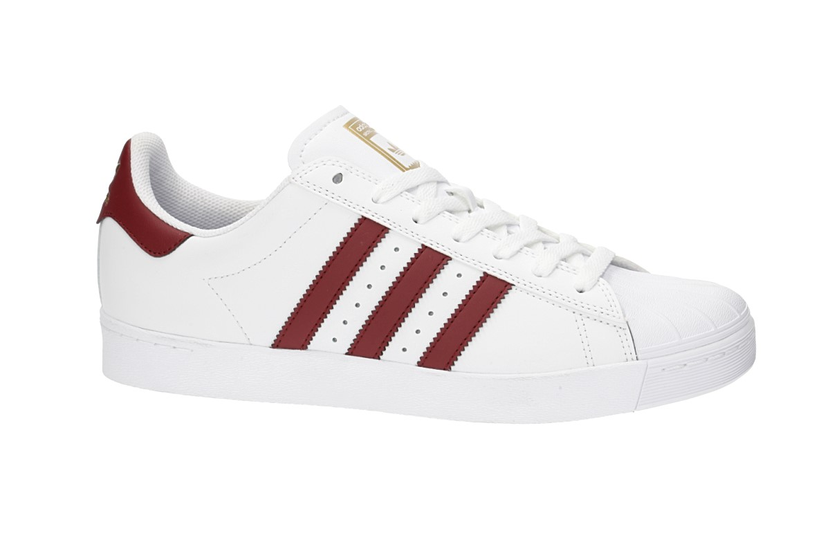 adidas Skateboarding Superstar Vulc ADV Shoes (white burgundy gold)