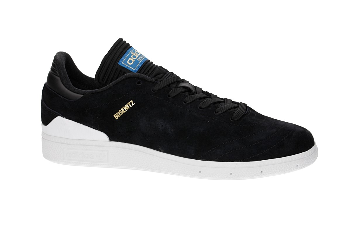 adidas Skateboarding Busenitz RX Shoes  (core black white bluebird)