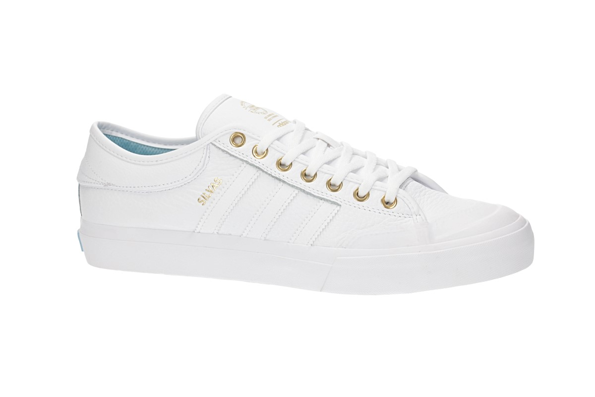 adidas Skateboarding Matchcourt Shoes (white gold blue)