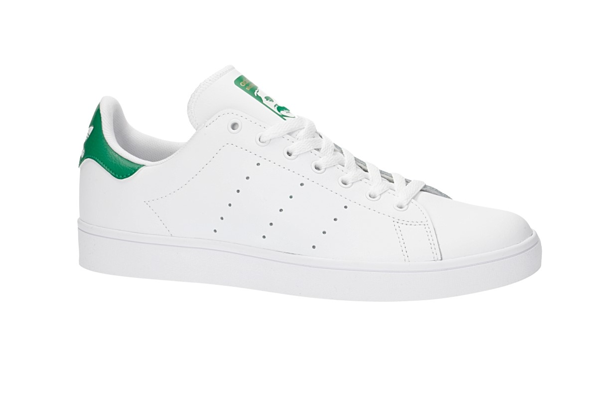 low priced 54df0 44c63 adidas Skateboarding Stan Smith Vulc Shoes (white white green)