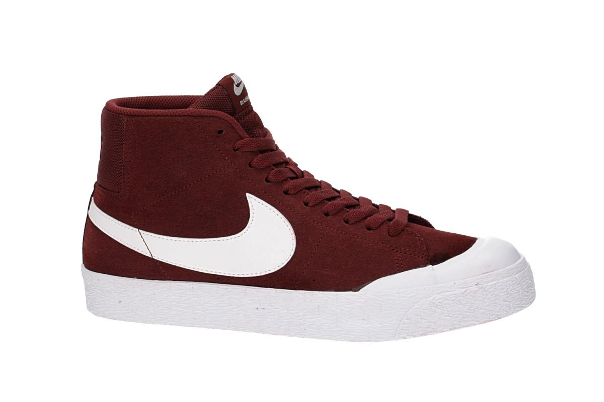 Nike SB Zoom Blazer Mid XT Schoen (dark team red white)