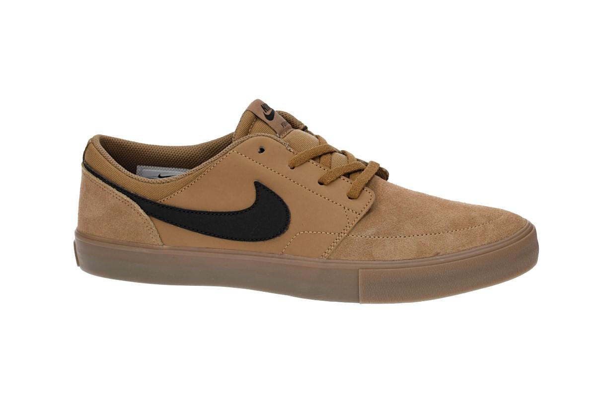 Nike SB Solarsoft Portmore II Schoen (golden beige black)