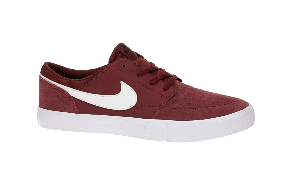 Nike SB Solarsoft Portmore II Chaussure (dark team red white)