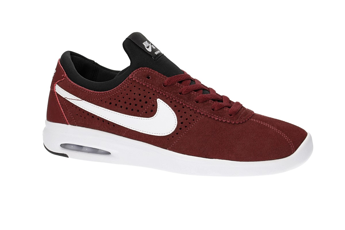 Nike SB Air Max Bruin Vapor Shoes (dark team red white)