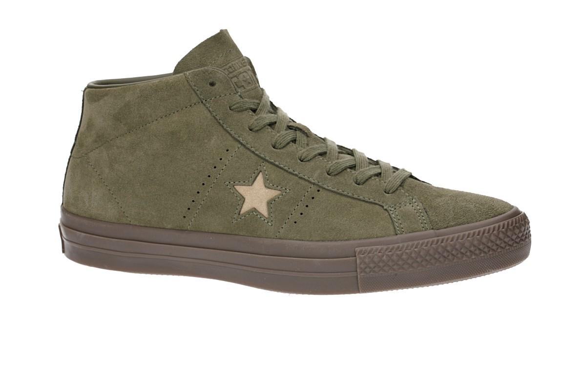 Converse One Star Pro Mid Schoen (medium olive light fawn)