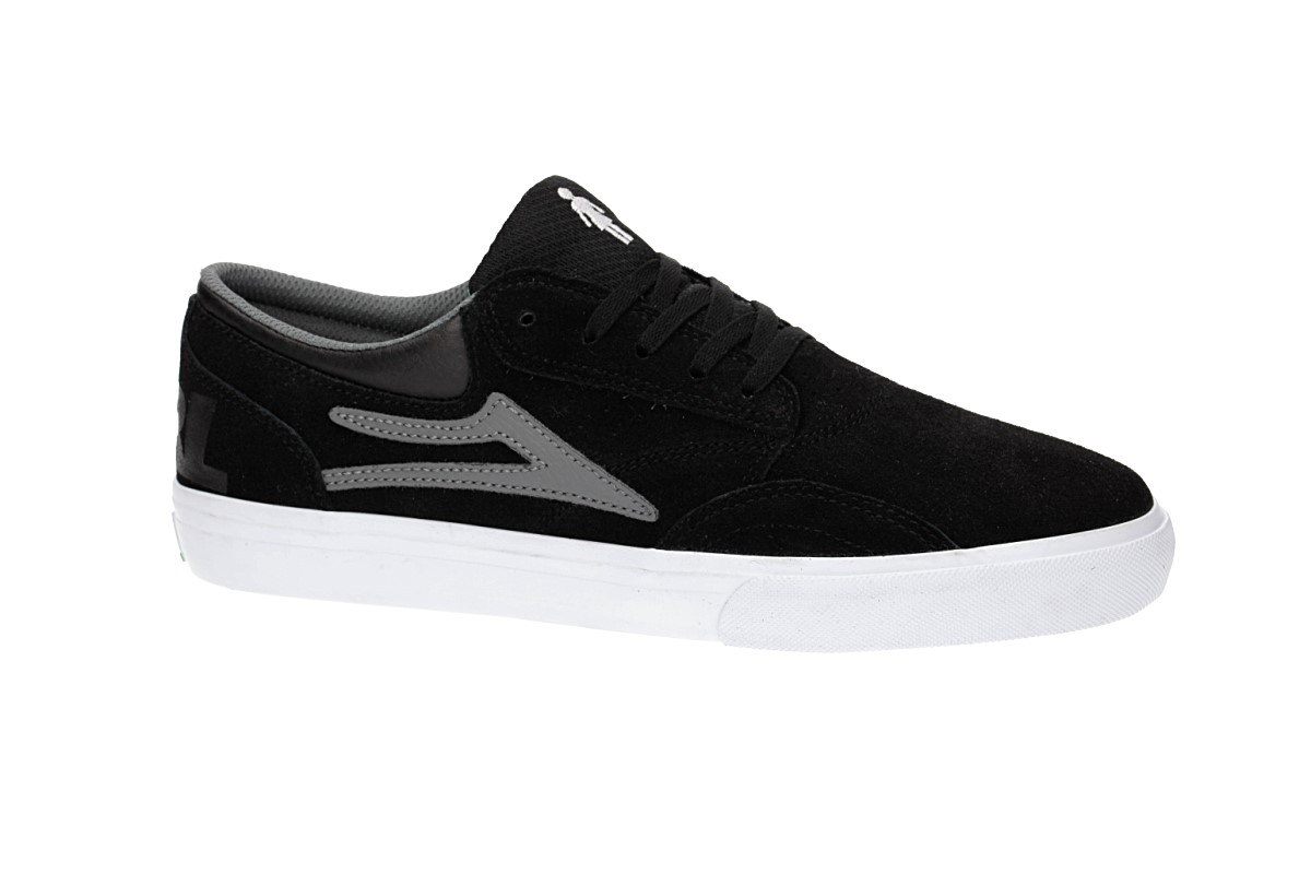 Lakai x Girl Griffin Suede Shoes (black grey)