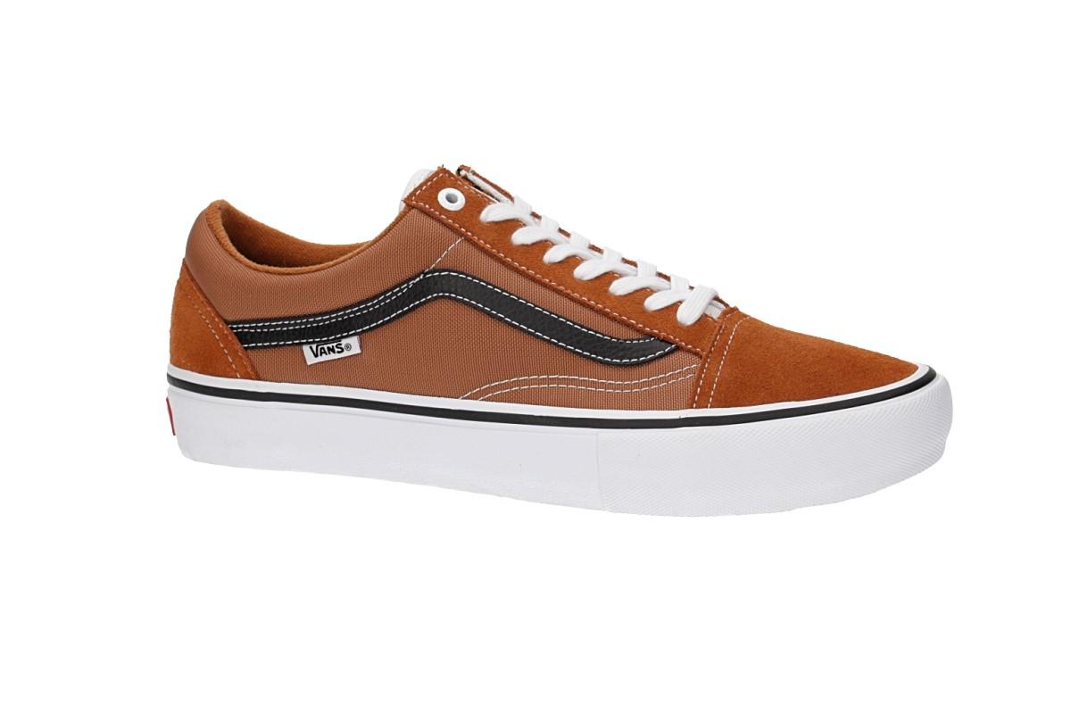 Vans Old Skool Pro Shoes (glazed ginger black white)