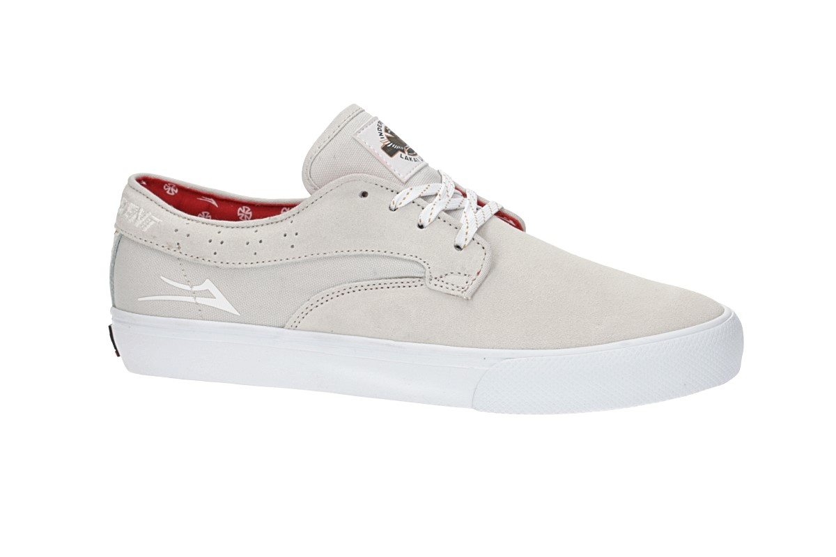 Lakai x Independent Riley Hawk Suede Chaussure (white)