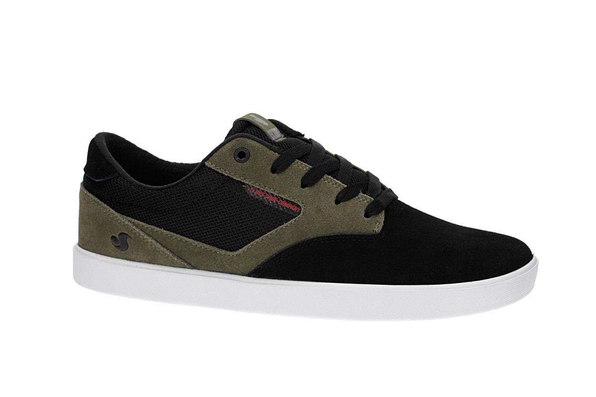 DVS Pressure SC Suede Shoes (black olive chilipepper chico)