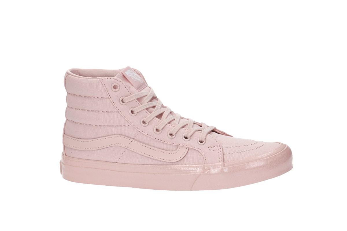 Marques Chaussure femme Vans femme Sk8-Hi Slim W Metalli Glitter Silver Pink