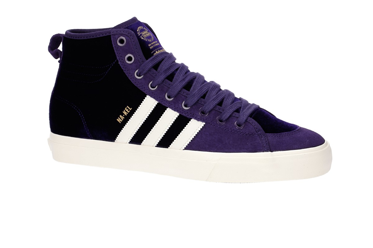 adidas Skateboarding Na-Kel Matchcourt High RX Schuh (purple white gold)