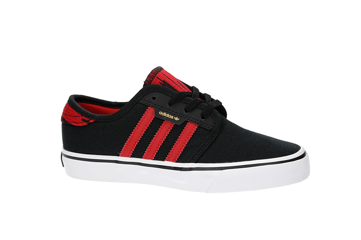 adidas Skateboarding Seeley Shoes kids (core black scarlet white)