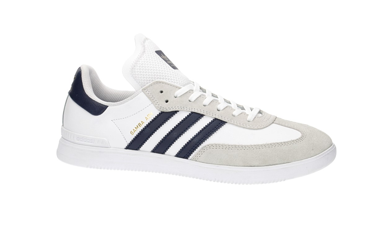 adidas Skateboarding Samba ADV Shoes (white navy gold)