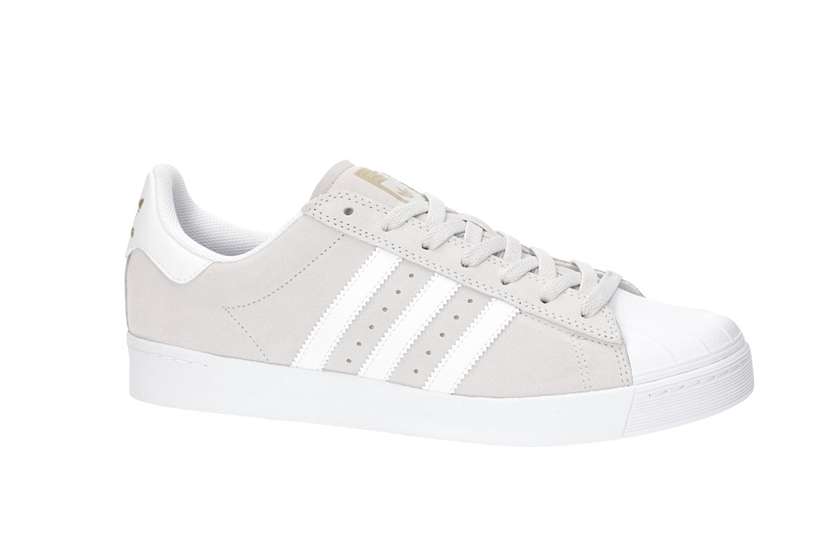 adidas Superstar Vulc ADV Shoes (grey one white gold)