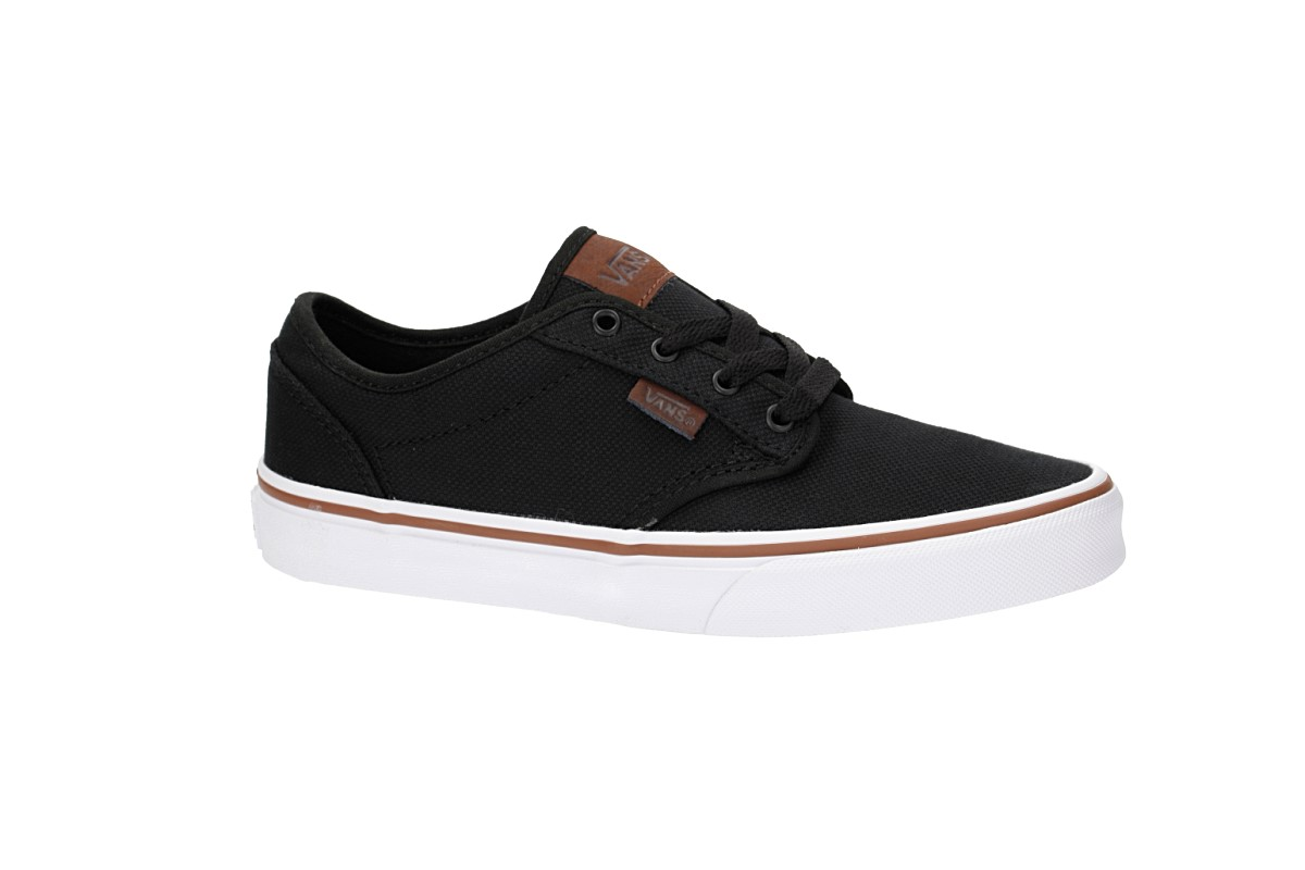 Vans Atwood Canvas Shoes kids (black true white) buy at skatedeluxe aadc8fb15
