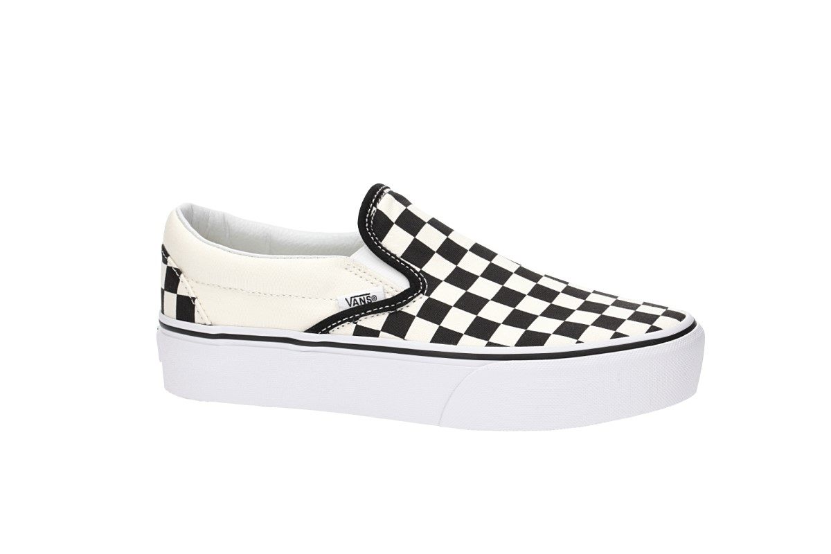 Vans Classic Slip-On Plateau Shoes women (black white checkerboard)