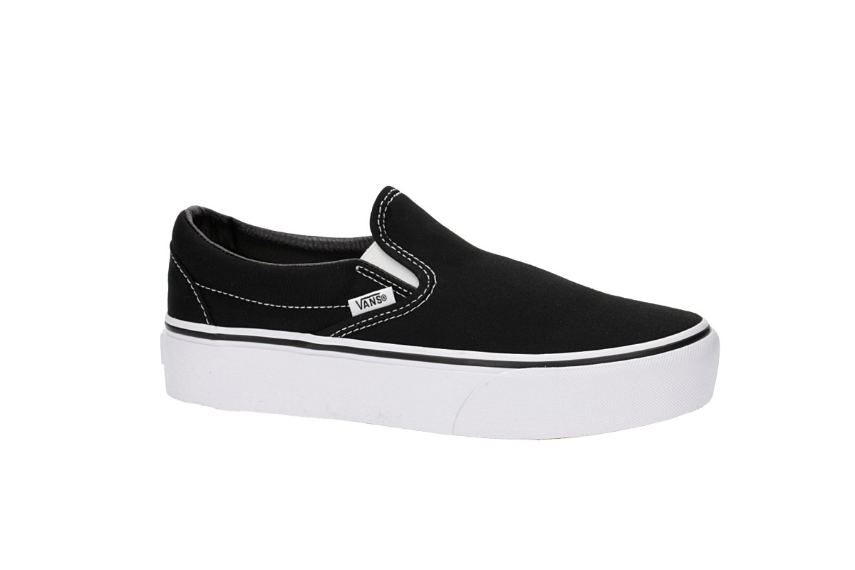 Vans Classic Slip-On Plateau Schuh women (black)