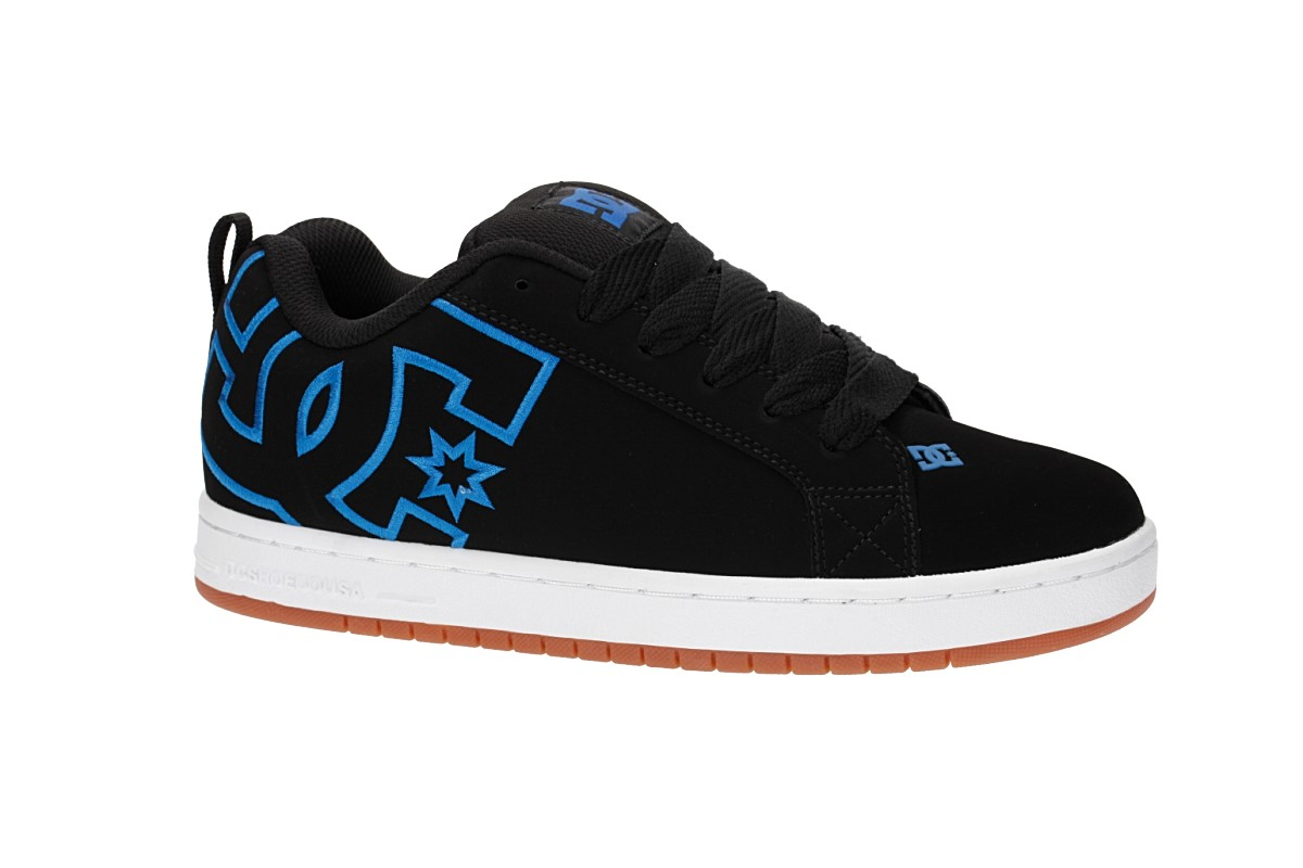 DC Court Graffik Schoen (black black blue)