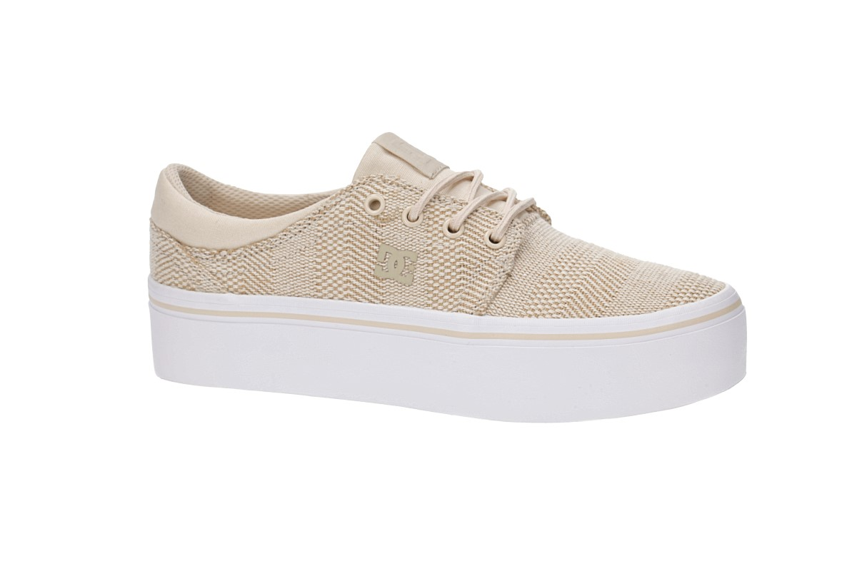 dc chaussures trase plate - forme tx se chaussures dc femmes (taupe) acheter à skatedeluxe 00be18
