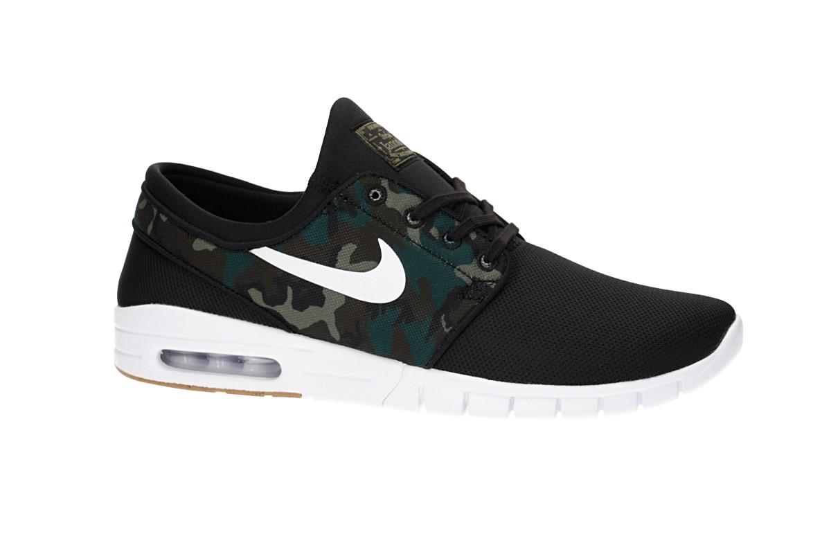 Nike SB Stefan Janoski Max Shoes (black white medium olive)